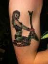 Zombie pin-up tattoo