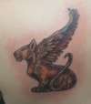 Cat with Wings tattoo