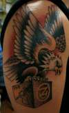 Eagle with WW2 symbols tattoo