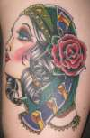 Gypsy - inside upper arm tattoo