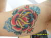 Inner rose tattoo