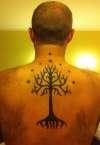 LOTR White Tree of Gondor tattoo