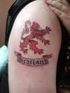 Rampant Lion tattoo