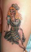 Scottish Pin Up tattoo