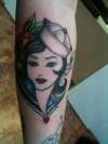 unfinished sailor girl...traditional tattoo