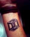 Escher cube wrist tattoo tattoo