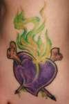 Poisoned Heart Foot Tattoo