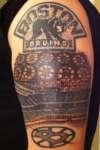 Start of the Boston Bruins sleeve tattoo