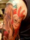 Venetian sleeve mask tattoo