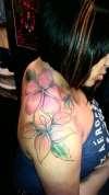 shoulder flower tattoo tattoo