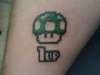 1 up super mario tattoo