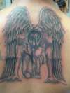 BOWING ANGEL tattoo
