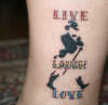Live Laugh Love Johnny tattoo