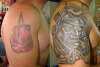 COVER UPfrom sport to warrior at peace tattoo