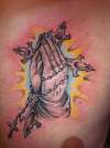 hands tattoo