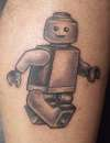 my brother's LEGO MAN tattoo