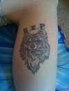 right leg tattoo