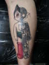 Astro boy with colour tattoo