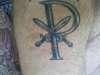 Chi Rho tattoo