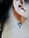 Heart Behind Ear tattoo