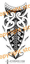 Maori tribal forearm tattoo design tattoo