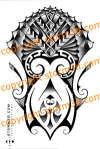 Samoan/Maori shoulder design tattoo