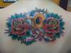 Trombone & Roses tattoo