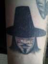 V for Vendetta on my wrist tattoo