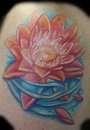 Water lily tattoo