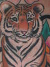 close up of the tiger tattoo