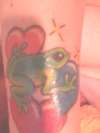 frogs and hearts tattoo