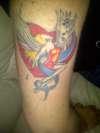 Cartoon pinup tattoo
