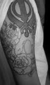 SKULL ROSES 2 tattoo