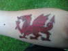 Welsh Dragon tattoo