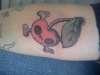 cherries and crossbones tattoo