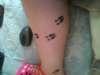 **deer tracks** tattoo