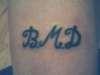 initials tattoo
