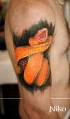 snake full color tattoo