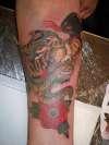 tiger & snake old school tattoo