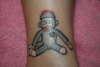 Sock Monkey tattoo