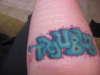 TROUBL3 tattoo