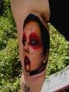 crazy zombie tattoo
