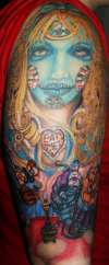Alice in wonderland day of the dead tattoo