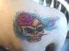 skull peacock tattoo