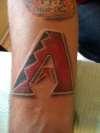 Arizona DiamondBacks tattoo