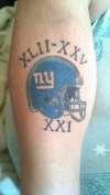 NY Giants tattoo