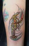spiny lobster tattoo