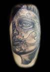 B+G Sugar skull tattoo