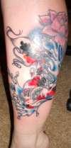4th koi session! tattoo