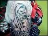 Virgin Mary Sugar Skull Outline (right arm sleeve) tattoo